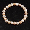 White&Light Cream Freshwater Pearl Flex Bracelet (7mm)