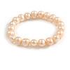 Light Cream Freshwater Pearl Flex Bracelet (9mm)