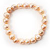 Light Cream Freshwater Pearl Flex Bracelet (9mm)