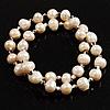 2-Strand Intertwine Freshwater Pearl Flex Bracelet Set (White)