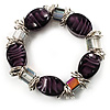 Purple Glass Bead Flex Bracelet