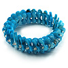 Sky Blue Shell Stretch Bracelet