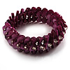 Violet Purple Shell Stretch Bracelet
