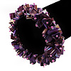 Purple Shell Chip Flex Bracelet
