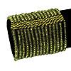 Wide Olive Green Glass Bead Flex Bracelet - up to 19cm wrist