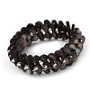 Grey Black Shell Stretch Bracelet - Up to 18cm Length