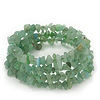 Green Aventurine Coil Flex Bangle Bracelet (Semi-precious stone) - Adjustable