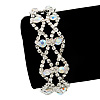 Two Row Clear/ AB Crystal Bracelet - 17cm Length (7cm extension)