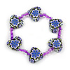 Children's Purple Acrylic 'Heart' Bracelet - Adjustable
