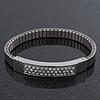 Unisex Silver Plated Swarovski Crystal Flex Tennis Bracelet - 20cm Length