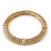 Burn Gold Textured Diamante Flex Bracelet - 19cm Length