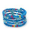 Teen's Light Blue Acrylic Bead Multistrand Bracelet - Adjustable