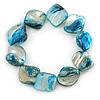 Blue Shell Nugget Flex Bracelet - 18cm L