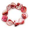 Red Shell Nugget Flex Bracelet - 18cm L