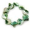 Green Shell Nugget Flex Bracelet - 18cm L