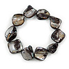Black Shell Nugget Flex Bracelet - 18cm L