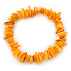 Antique Yellow Shell Nugget Stretch Bracelet - up to 19cm