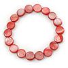 Red Sea Shell Flex Bracelet - Adjustable up to 20cm L
