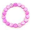 Bright Pink Shell Flex Bracelet - Adjustable up to 20cm L