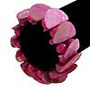 Magenta Shell, Acrylic Bead Flex Bracelet - 18cm L