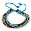Unisex Multicoloured Multi Cotton Cord Friendship Bracelet - Adjustable