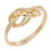 Polished Gold Plated Knot Chunky Slip On Bangle Bracelet - 17cm L (For Smaller Wrist)