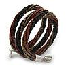 Teen/ Children/ Kids Black/ Bronze/ Brown Glass Bead Multistrand Bracelet - 15cm L