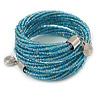 Teen/ Children/ Kids Light Blue Glass Bead Multistrand Bracelet - 15cm L