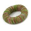 Lime Green/ Pink Shell Flex Bracelet - 17cm L
