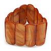 Rusty Orange Shell Flex Bracelet - 17cm L
