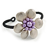 Romantic Floral Cuff Bracelet - Adjustable