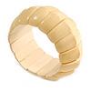 Lustrous Natural Wooden Flex Bracelet - up to 19cm L