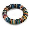 Multicoloured Shell Flex Bracelet - 18cm L - Medium
