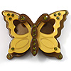 Pretty Olive Plastic Butterfly Brooch