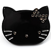 Little Kitty Plastic Brooch (Black)