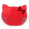 Little Kitty Plastic Brooch (Pink)