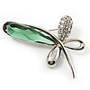 Contemporary Crystal Butterfly Brooch (Green&Clear)