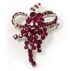 Magenta Crystal Grapes Brooch