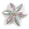 AB Crystal Flower Brooch