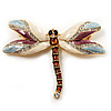 Exotic Enamel Dragonfly Brooch