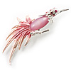 Light Pink Bird Brooch