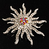 Corsage Sparkling Crystal Star Brooch