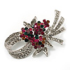 Stunning Bow Corsage Crystal Brooch (Multicoloured)