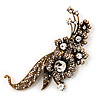 Oversized Antique Gold Grandma's Treasure Brooch/ Pendant - 11cm Length