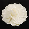 Oversized White Fabric Rose Brooch - 18cm Diameter