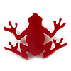 Red Acrylic Frog Brooch