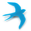 Bright Blue Swallow Acrylic Brooch