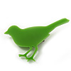 Lime Green Acrylic Sparrow Brooch