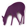 Purple Acrylic Deer Brooch