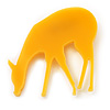 Yellow Acrylic Deer Brooch